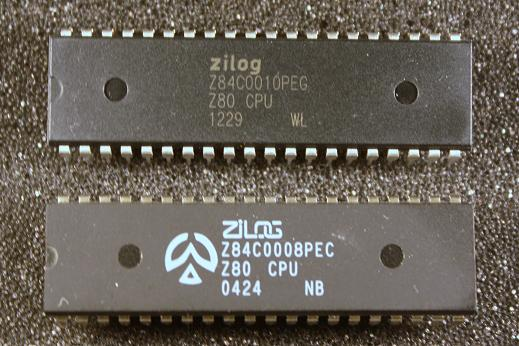 8 MHz and 10 MHz Z80 CPUs